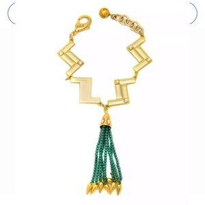 Lulu Frost swift nomadic zag tassel necklace